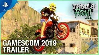 Trials Rising - Gamescom 2019 Crash & Sunburn DLC Reveal Trailer | PS4