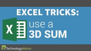 Excel Tricks - How to Use a 3D Sum