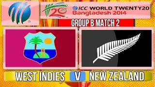 (Cricket Game) ICC T20 World Cup 2014 - West Indies v New Zealand Group B Match 2