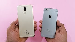 Honor 9i vs iPhone 6 SPEED TEST   COMPARISON!!