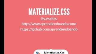 MaterializeCSS - Clase 9  - Componentes : Icons