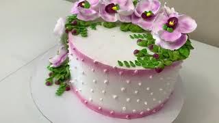 Орхидеи из Белкового Крема Торт Нежная веточка ОРХИДЕИ Красивый торт
