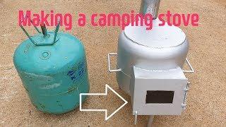 Making a camping stove ( 캠핑 스토브 만들기)