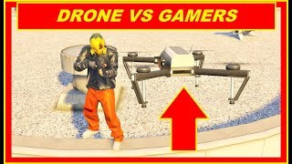 GTA 5 Online DRONE Gameplay : DRONE VS PLAYER Compilation , After Hours DLC , drone trolling