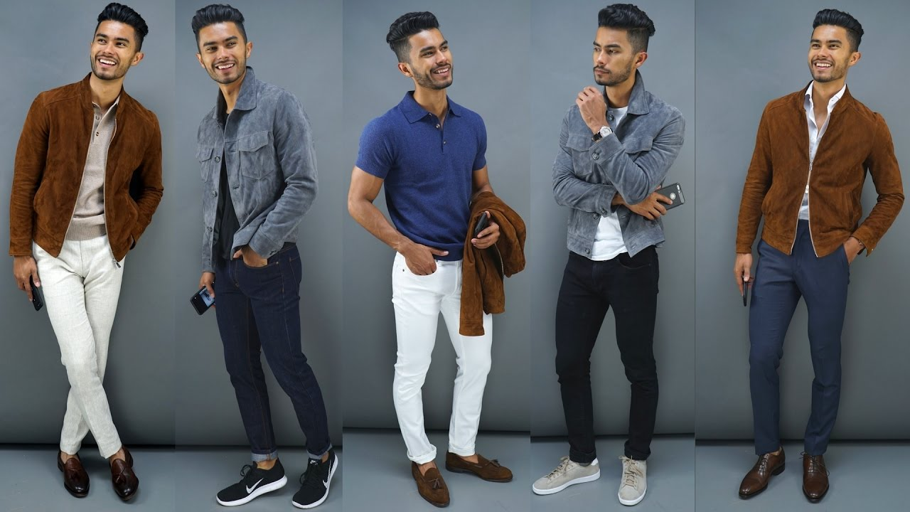 The Most Stylish Jacket For Men 5 Ways To Wear Suede Jackets Youtube