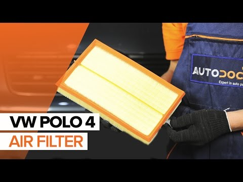 How to replaceair filter VW Polo TUTORIAL | AUTODOC