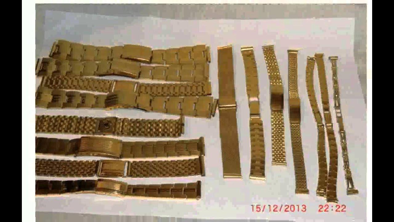 Купить браслет для часов мужской позолоченный