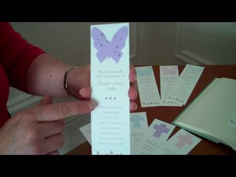 Memorial Seed Bookmarks Grow Forget-Me-Nots