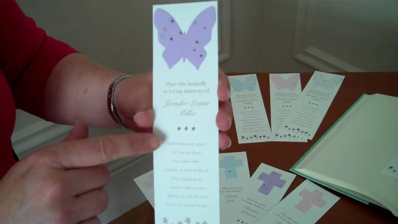 Memorial Seed Bookmarks Grow Forget Me Nots Youtube