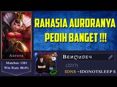 RESEP RAHASIA MANTAN TOP GLOBAL AURORA ! PEDIH BANGET GUYS ! Mobile Legends