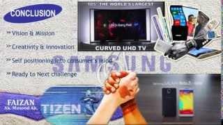 Marketing Mix 4Ps Presentation on Samsung Company by FAIZAN from Malegaon, Dist. Nasik (MH) India