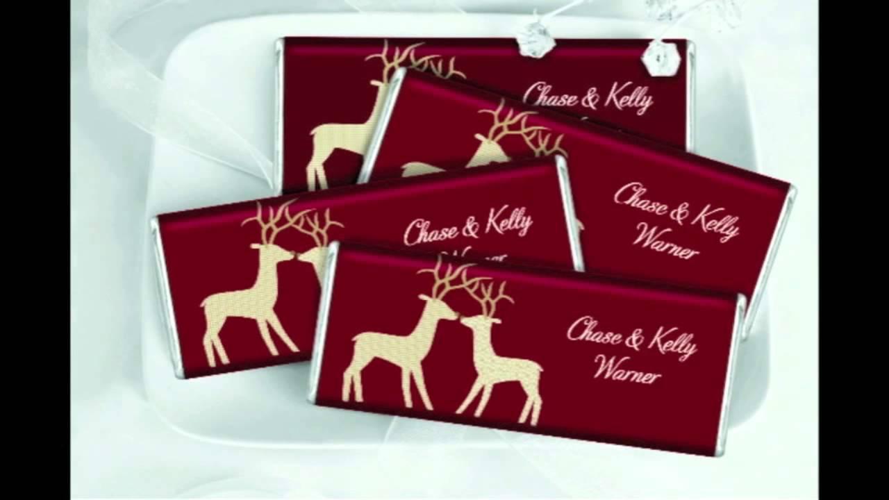 christmas wedding favors chocolate bar reindeer love video youtube - Christmas Wedding Favors