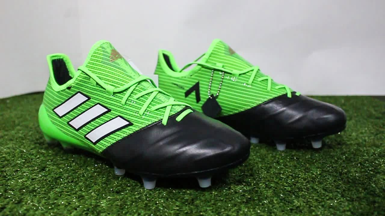 1283f6293d6f Adidas ACE 17.1 Leather FG AG (Turbocharge Pack) Unboxing   First  Impression HD (Thai)