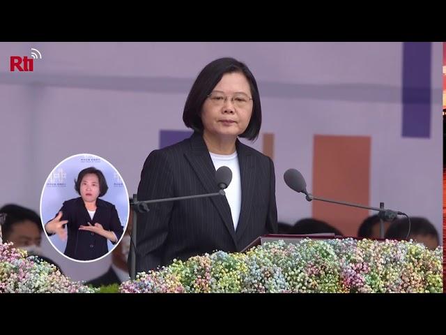 HUT ROC 109, Pidato Kenegaraan Presiden Tsai Ing-wen  RTI Siaran Indonesia
