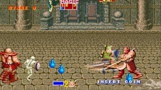Golden Axe 1 arcade gameplay playthrough longplay