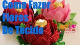 Como Fazer Flores de Tecido – How to Fabric Flowers