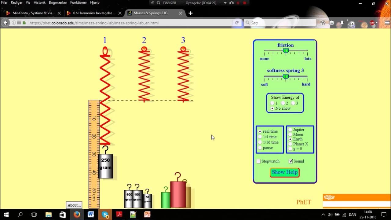 Fysik A simulering af Hookes lov