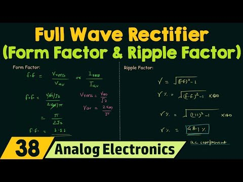 Full Wave Rectifier (Form Factor & Ripple Factor)