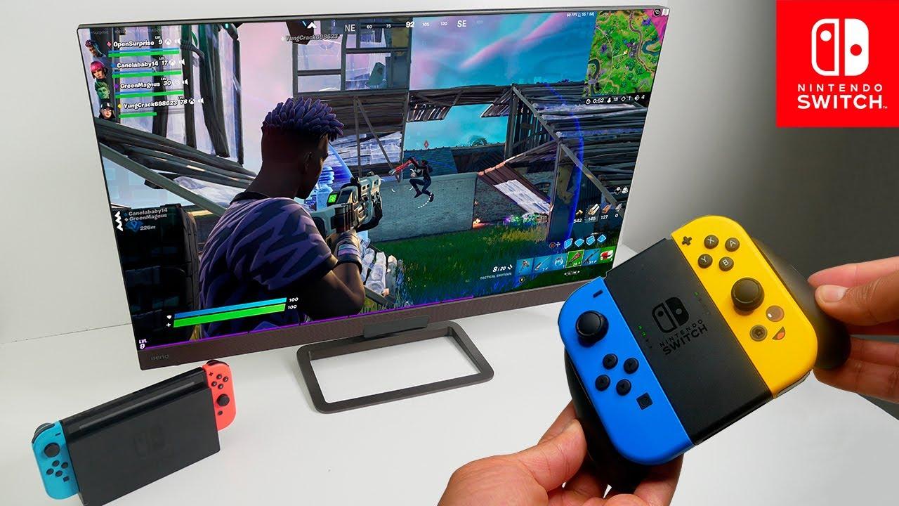 Fortnite Season 7 Gameplay on Nintendo Switch Docked Mode