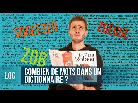 LQC - Combien de mots y a-t-il dans un dictionnaire ?
