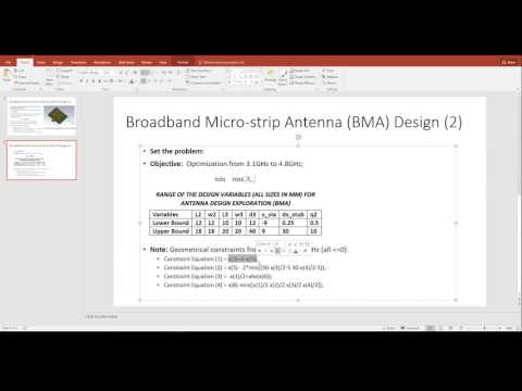 Broadband Micro-strip Antenna Optimisation using ADE 1.0