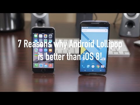 7 Reasons why Android 5.0 Lollipop is better than iOS 8!
