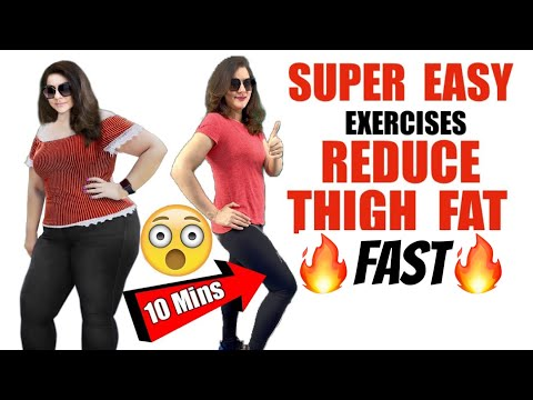 Easy Thigh Exercises To Get Slim Thighs in 7 Days |10 Easy Exercises to Lose Thigh Fat Fast at Home