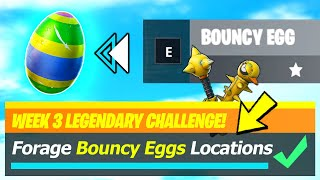 Bouncy Eggs LOCATIONS & Forage Bouncy Eggs hidden around the island - Fortnite