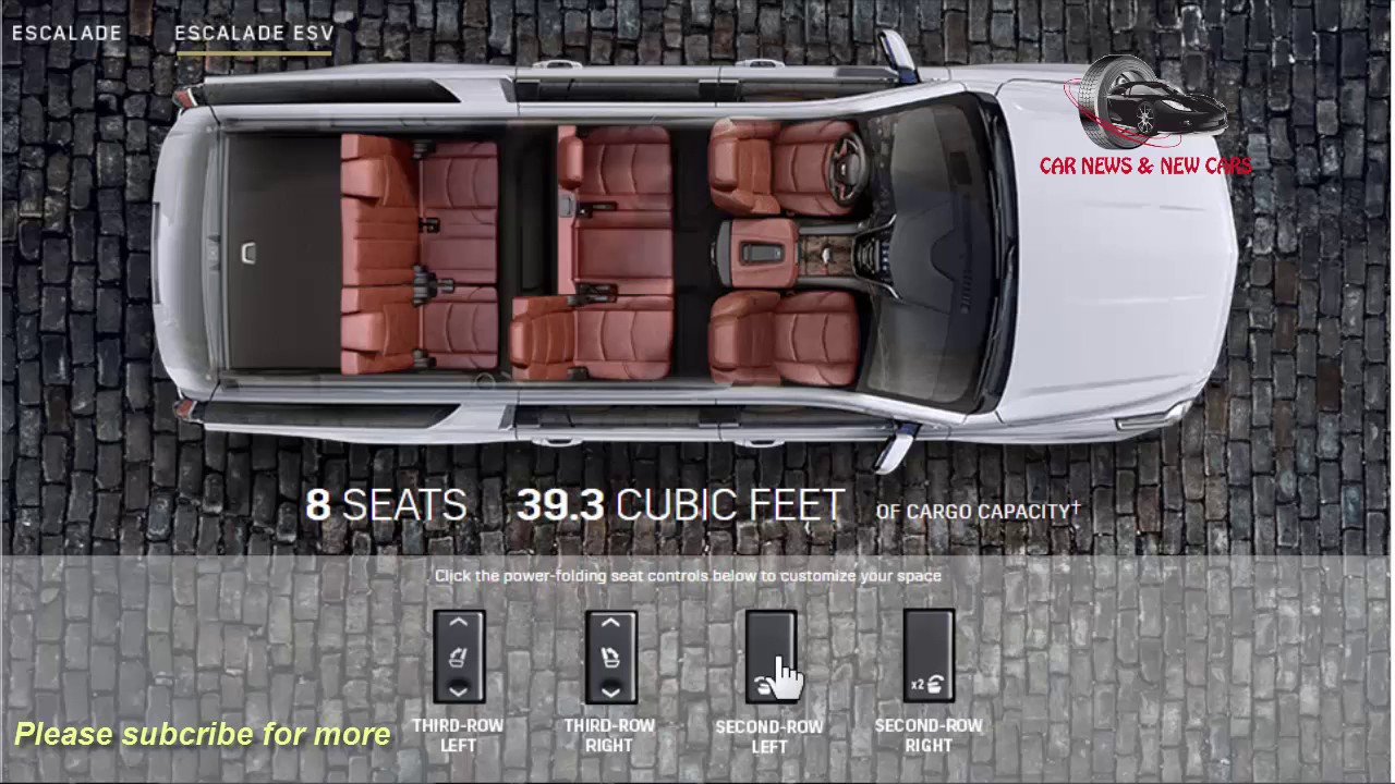 2018 cadillac 2 door. unique cadillac 2017  2018 cadillac escalade luxury platinum  esv interior  cargo and  load capacity throughout cadillac 2 door