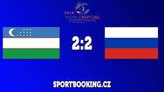 Match review UZBEKISTAN VS RUSSIA ROUND 4 (World Futsal Championship 2016)