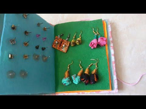 How to make jewellery book #jewellery organiser