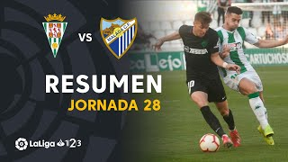 Resumen de Córdoba CF vs Málaga CF (1-1)