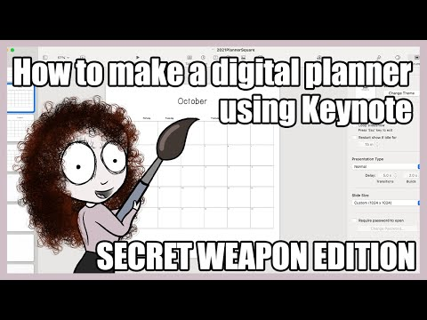 How To Make A Digital Planner In Keynote - Secret Weapon!!!