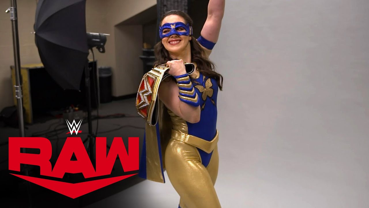 Nikki A.S.H. poses for her first photos as Raw Women's Champion: July 19, 2021