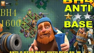 NEW CLASH OF CLANS - BH4 anti 1 star base , DO NOT MISS THIS BASE, PROOF INCLUDED 1/04/2018