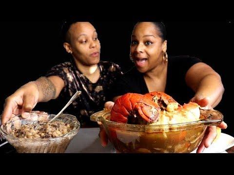 Seafood Gumbo Mukbang! (King Crab, Lobster, Shrimp)