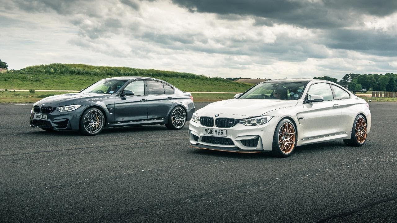 Bmw M3 Comp Pack Vs Bmw M4 Gts Drag Races Top Gear Youtube