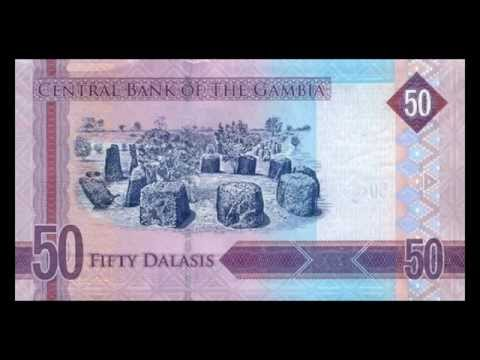 All Banknotes of Gambian dalasi - 5 Dalasis to 200 Dalasis - 2015 Issue President Jammeh in HD