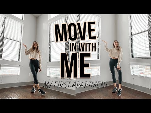 MOVING TO MY FIRST APARTMENT: empty apartment tour and moving vlog