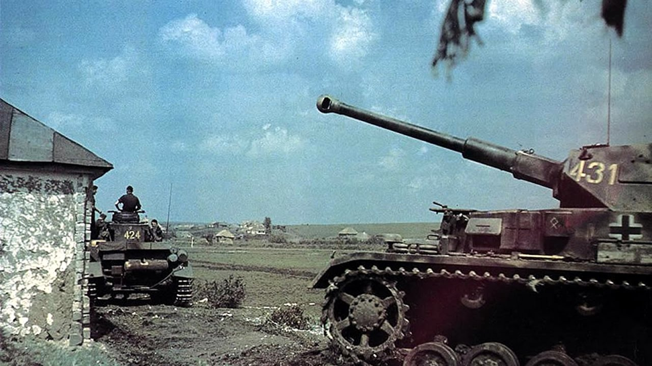 ww2 in color hd nazi german panzer tiger tanks in action rare color film