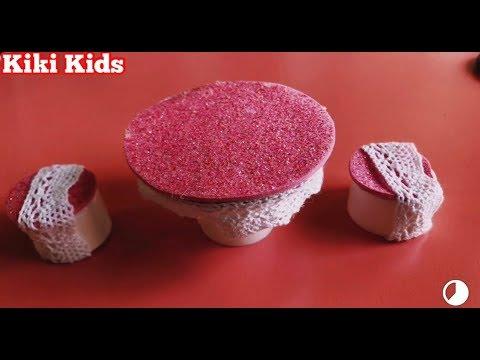 Làm bàn ghế cho búp bê - DIY furniture for dolls  - Kiki Kids
