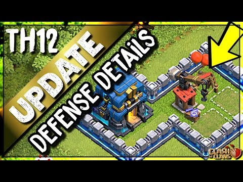 NEW SIEGE WORKSHOP AND DEFENSE LEVELS   DEFENSE STATS and DEFENSES IN ACTION   Clash of Clans