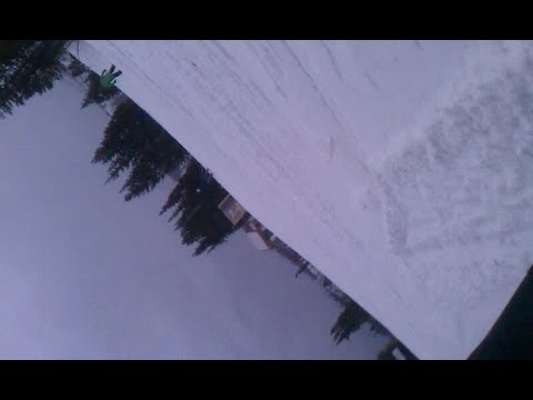 First Time Snowboarding Helmet Cam - Funny!