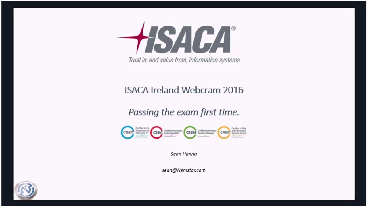 Isaca exam webcram by sean hanna youtube 1betcityfo Images
