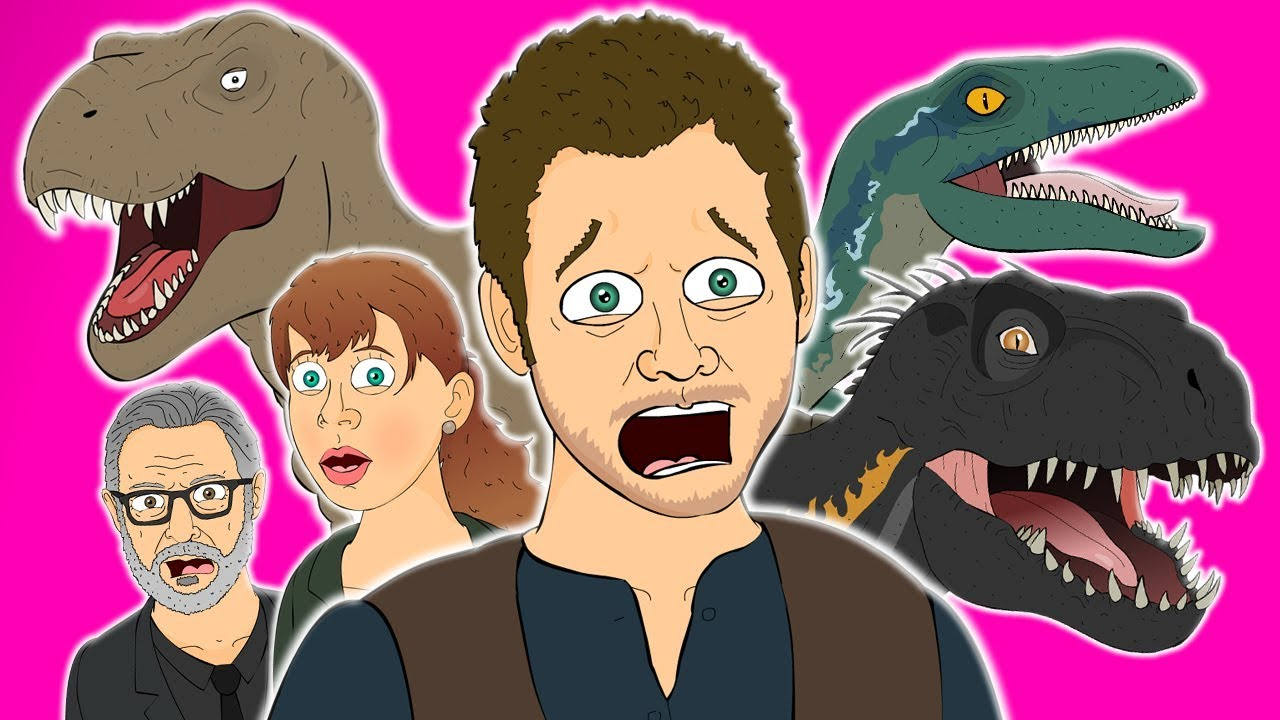 ♪ JURASSIC WORLD FALLEN KINGDOM THE MUSICAL - Animated Parody Song image