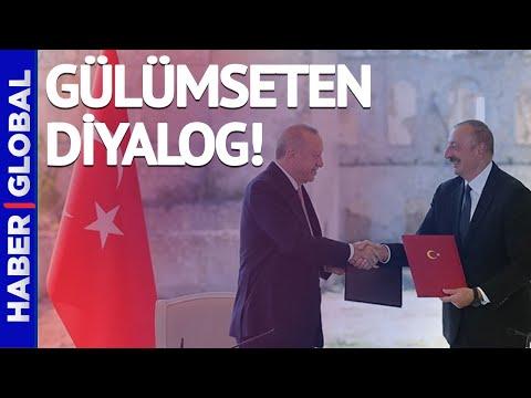 Cumhurbaşkanı Erdoğan ile İlham Aliyev Arasında Gülümseten Diyalog