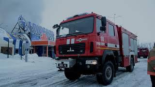 Ліквідовано масштабну пожежу в будівлі ТЦ «Епіцентр»