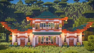 Minecraft: How to Build a Modern Japanese House | Japanese House Survival Tutorial