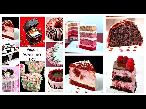 8 Vegan Valentine's Day Cakes Compilation || Gretchen's Vegan Bakery
