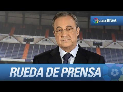 Florentino Pérez anuncia la destitución de Carlo Ancelotti